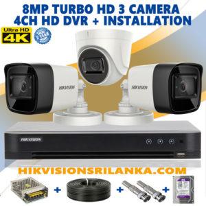 3-camera-8mp-turbo-HD-package sale in srilanka hikvision camera dealer
